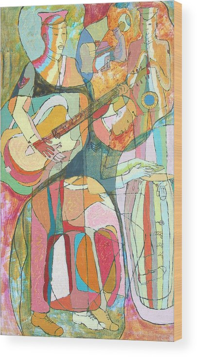 Johnpowellpaintings Wood Print featuring the painting Jamaica Regiment Band by John Powell