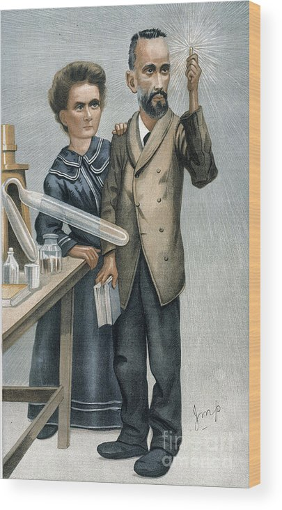 1904 Wood Print featuring the photograph Marie And Pierre Curie by Granger