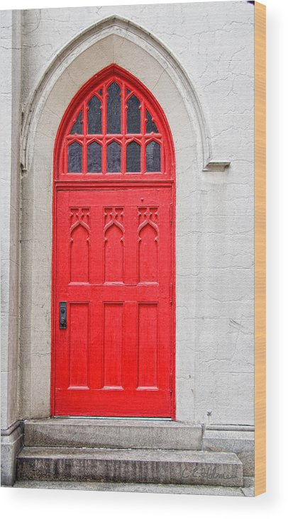 Door Wood Print featuring the photograph Red Door by Christopher Holmes