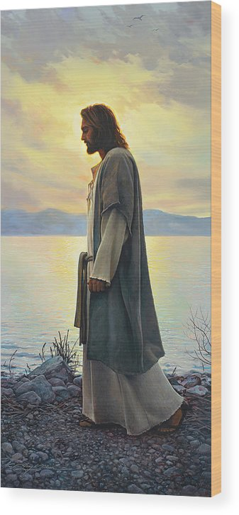 Jesus Wood Print featuring the painting Walk With Me by Greg Olsen