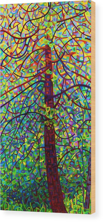 Art Wood Print featuring the painting Kaleidoscope by Mandy Budan