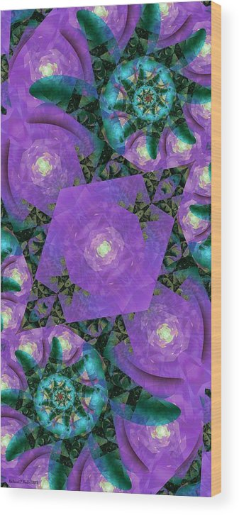 Fractal Wood Print featuring the digital art Katya II by Richard Kelly