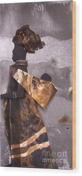 Metal Wood Print featuring the mixed media Xhosa Woman by Jeff Williams