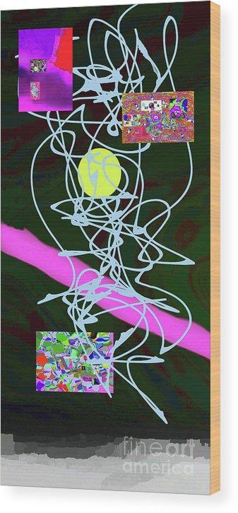 Walter Paul Bebirian Wood Print featuring the digital art 8-1-2015abcdef by Walter Paul Bebirian