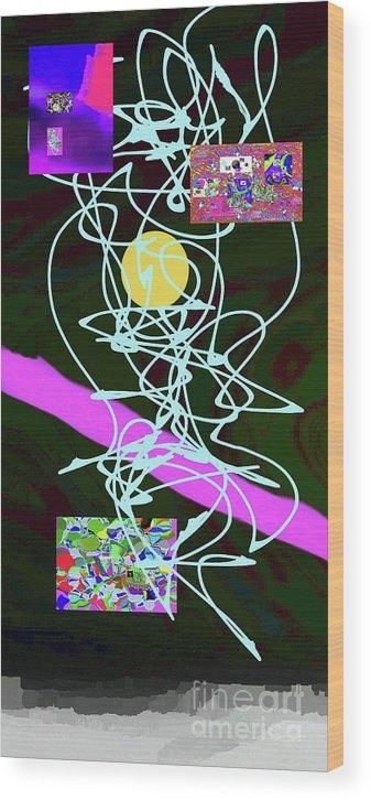 Walter Paul Bebirian Wood Print featuring the digital art 8-1-2015abcdefgh by Walter Paul Bebirian