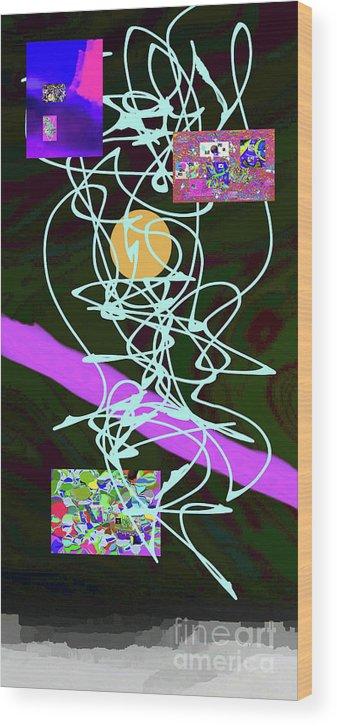 Walter Paul Bebirian Wood Print featuring the digital art 8-1-2015abcdefghi by Walter Paul Bebirian
