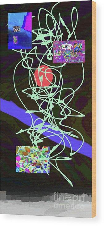 Walter Paul Bebirian Wood Print featuring the digital art 8-1-2015abcdefghijklm by Walter Paul Bebirian