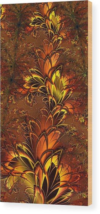 Digital Art Wood Print featuring the digital art Autumnal Glow by Amanda Moore