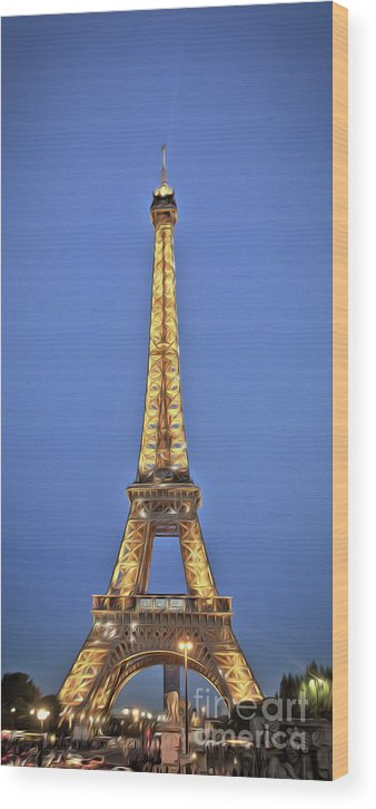 Paris Wood Print featuring the photograph Eiffel Tower 17 Art by Alex Art and Photo