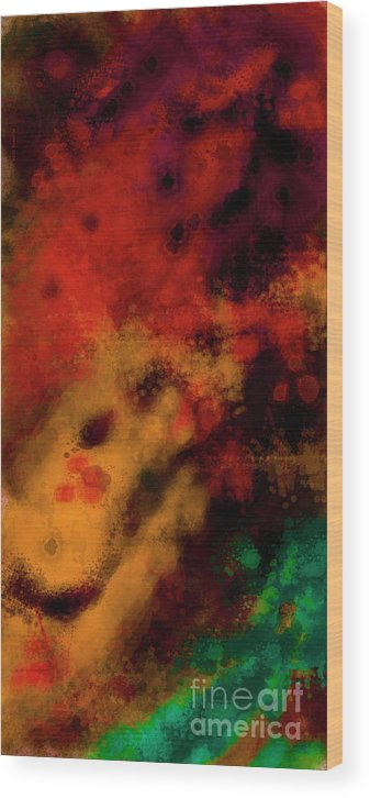 Metal Abstract - Right Wood Print featuring the painting Metal Abstract - Right by Digartz - Thom Williams