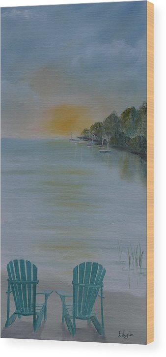 Water Wood Print featuring the painting Missed Opportunity by Scott Kugler