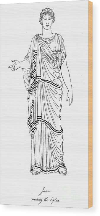 Ancient Wood Print featuring the photograph Mythology: Hera/juno by Granger