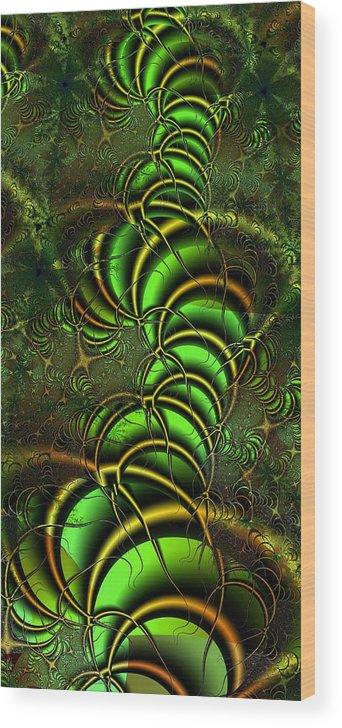 Digital Art Wood Print featuring the digital art Spring Awakens by Amanda Moore