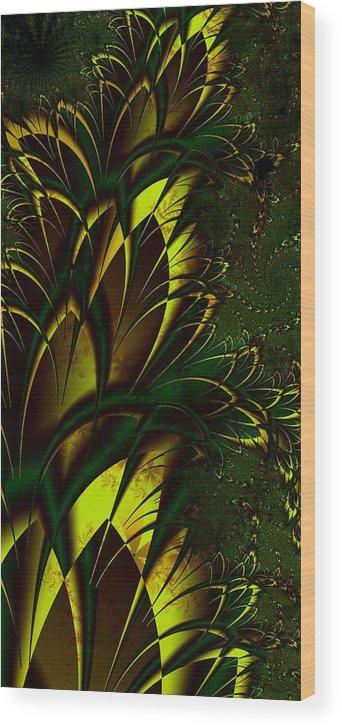 Digital Art Wood Print featuring the digital art Summer Frenzy by Amanda Moore