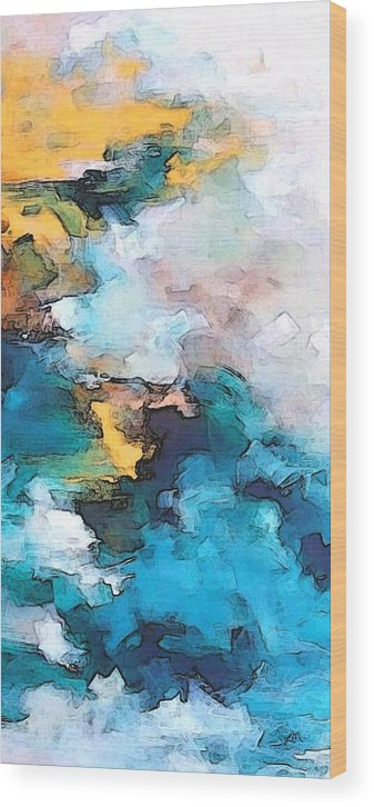 Abstract Wood Print featuring the digital art Sweet Memory Shades by Linda Mears