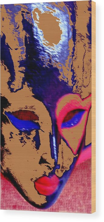 Mask Wood Print featuring the digital art The Face Of Destiny by Danny Donahue