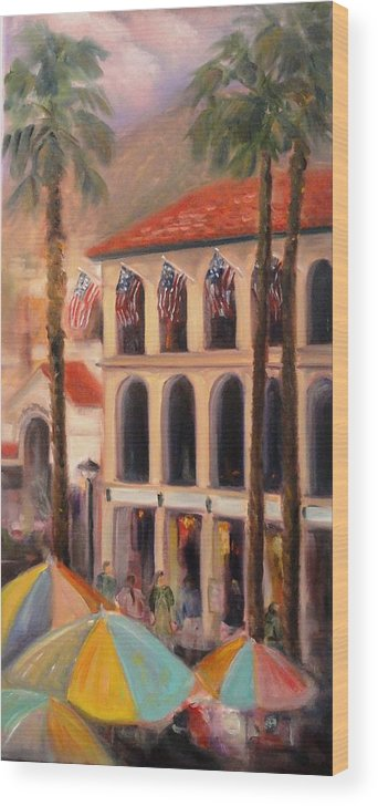 Catalina Wood Print featuring the painting The Fourth In Avalon by Nancy Atherton Cheadle