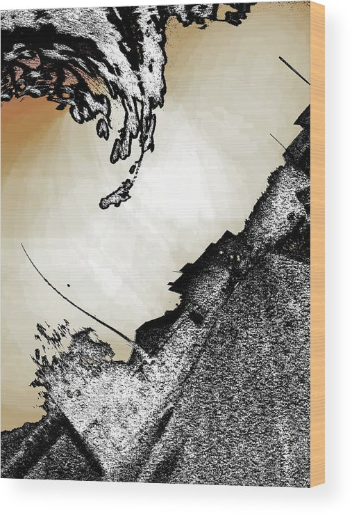 Digital Art Wood Print featuring the digital art Twist And Shout by Beto Machado