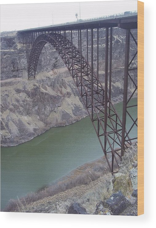 Wood Print featuring the photograph Bridge by Angela Stout