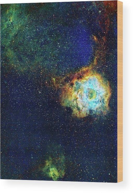Rosette Nebula Wood Print featuring the photograph Rosette Nebula by J-p Metsavainio/science Photo Library
