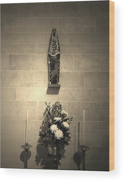 Mother Marry Wood Print featuring the photograph Church by Girish J