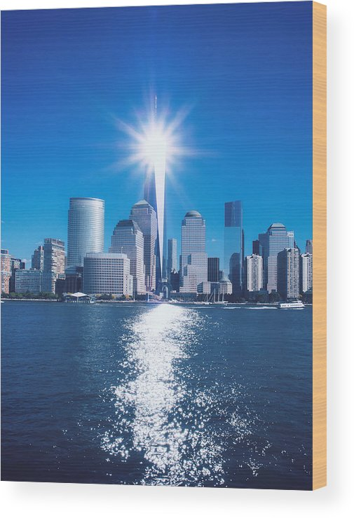 911 Wood Print featuring the photograph 9/11 Memorial by Lidia Sharapova