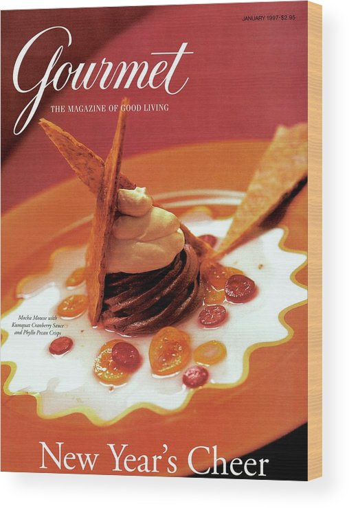 Food Wood Print featuring the photograph A Gourmet Cover Of Moch Mousse by Romulo Yanes