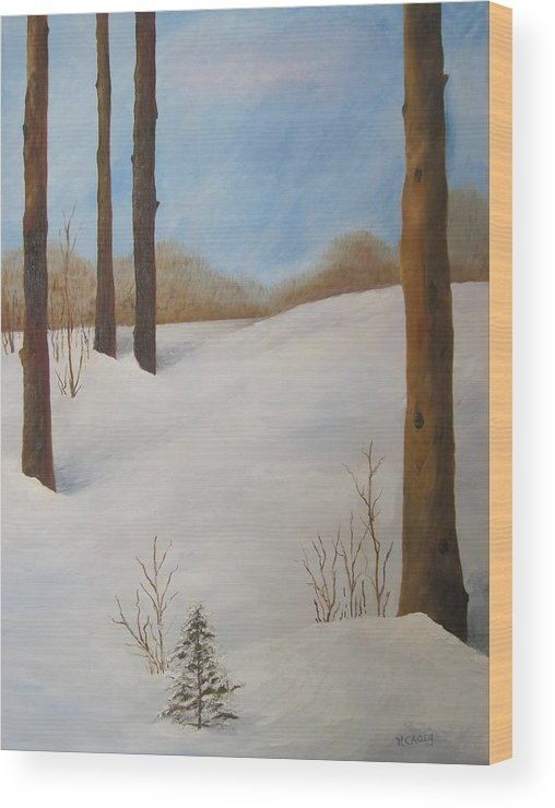 Oil Wood Print featuring the painting After The Storm by Nancy Craig