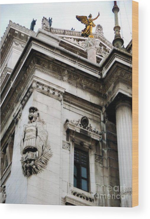 Angel Wood Print featuring the photograph An Angel In Rome by Tisha Clinkenbeard