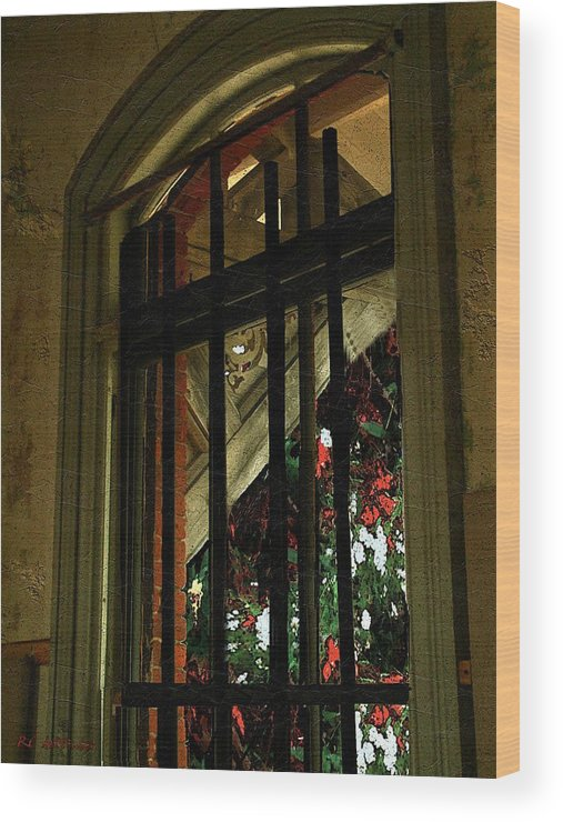 Window Wood Print featuring the painting Autumn At The Old Sanitarium by RC DeWinter