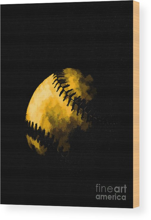 Base Wood Print featuring the photograph Baseball The American Pastime by Edward Fielding