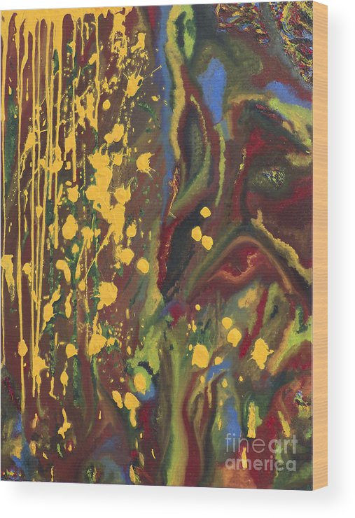 Painting Wood Print featuring the painting Biocenosis by R G Nascimento