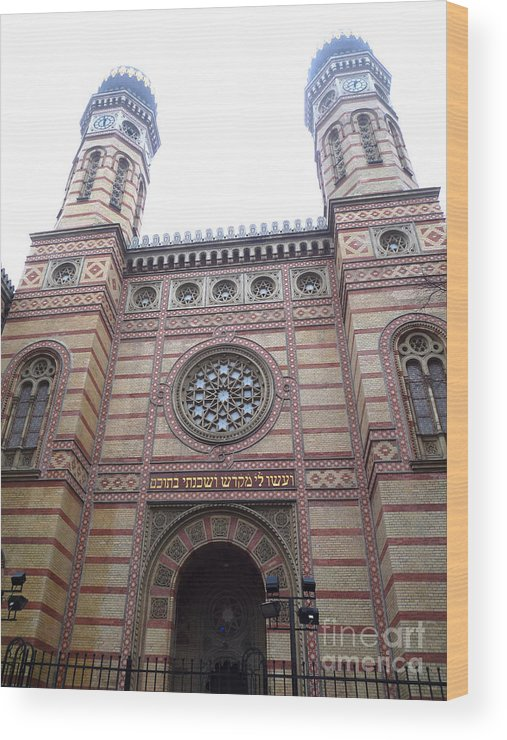 Budapest Wood Print featuring the photograph Budapest Synagogue by Deborah Smolinske