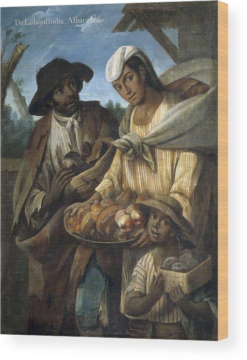 Vertical Wood Print featuring the photograph Cabrera, Miguel 1695-1768. De Lobo Y De by Everett
