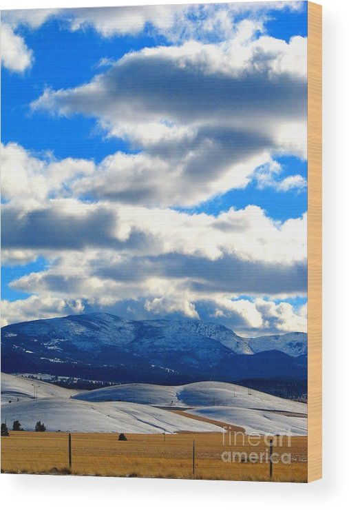 Casey Peak Wood Print featuring the photograph Casey And High Peaks In Winter by Matthew Peek