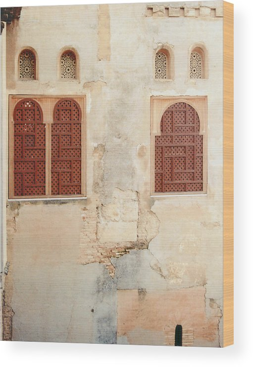 Alhambra Wood Print featuring the photograph Courtyard Alhambra by Mary Bedy