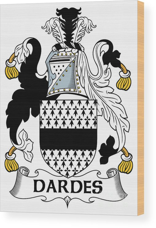 Dardes Wood Print featuring the digital art Dardes Coat Of Arms Irish by Heraldry