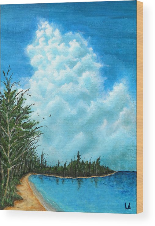 Clouds Wood Print featuring the painting Days Before You Came by Logan Hoyt Davis