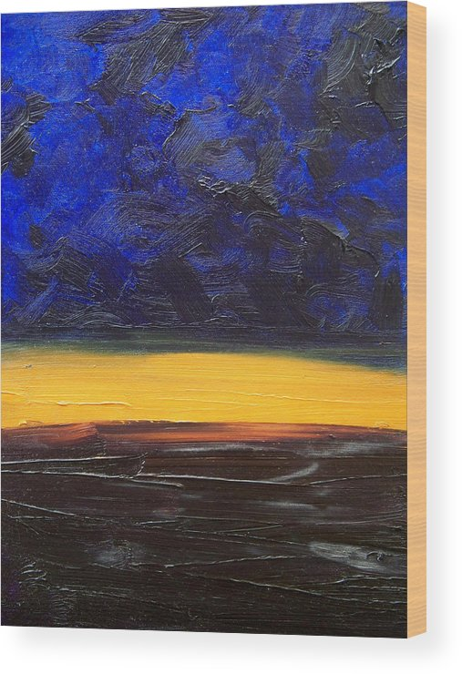 Landscape Wood Print featuring the painting Desert Plains by Sergey Bezhinets