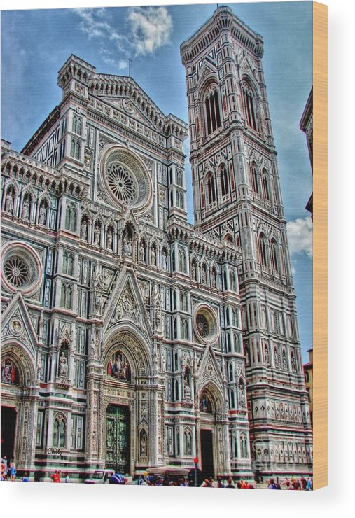 Church Wood Print featuring the photograph Duomo Di Firenze by Patrick Witz