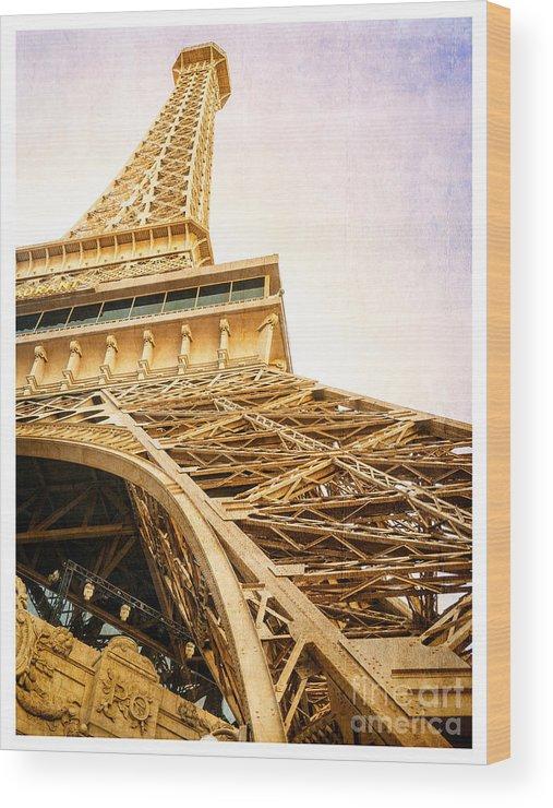 Eiffel Wood Print featuring the photograph Eiffel Tower by Edward Fielding
