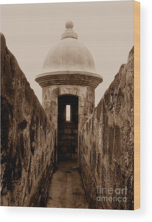 Sentry Wood Print featuring the photograph El Morro Sentry by Christine Stack