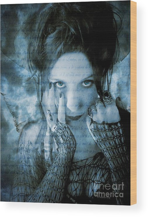 Angel Wood Print featuring the photograph Eternal Outsider by Heather King