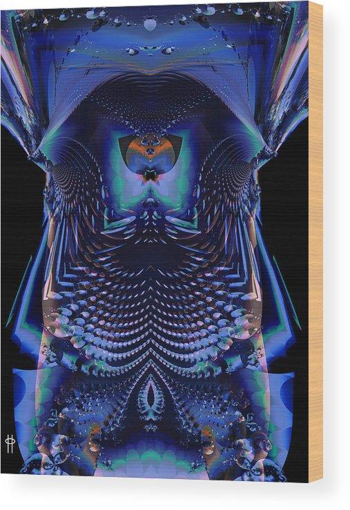 Jim Pavelle Fine Art Wood Print featuring the digital art Flea Horse by Jim Pavelle