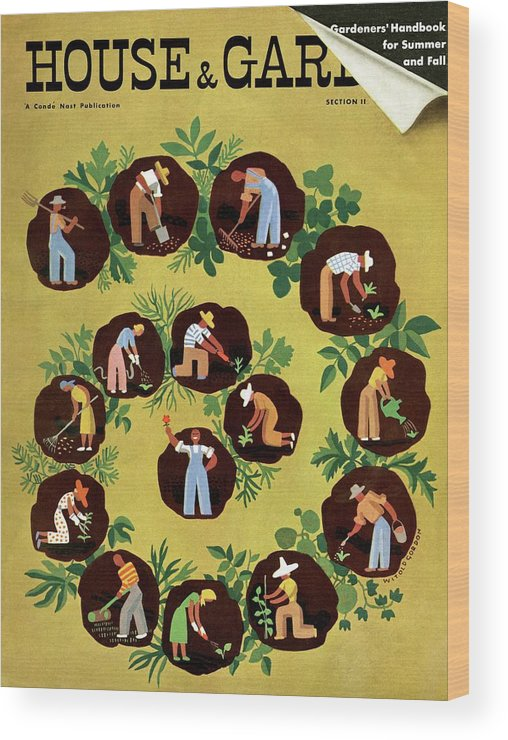 House And Garden Wood Print featuring the photograph Gardeners And Farmers by Witold Gordon