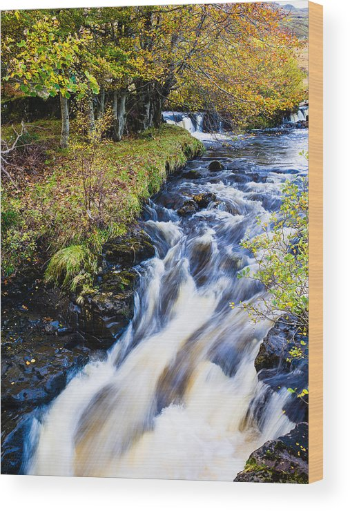 Scotland Wood Print featuring the photograph Glenbrittle Waterfall by Mark Llewellyn