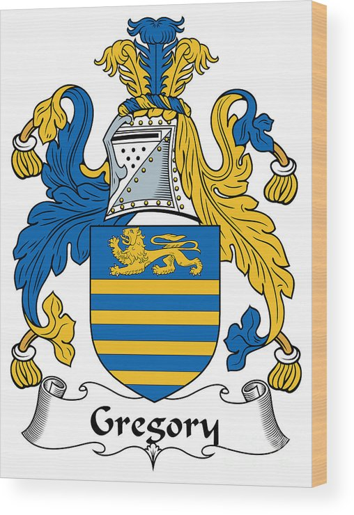 Gregory Wood Print featuring the digital art Gregory Coat Of Arms Irish by Heraldry