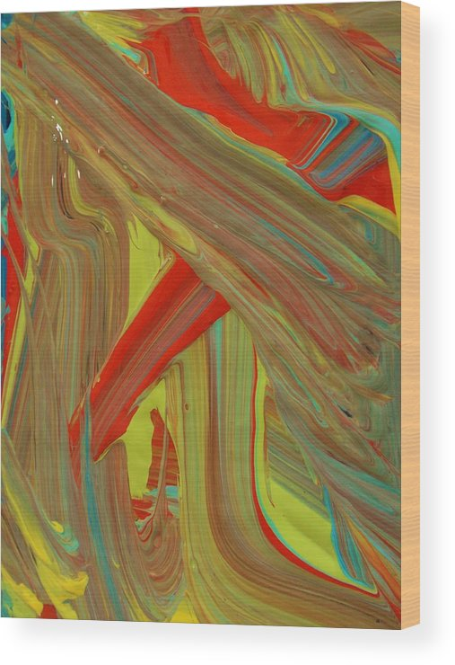 Original Wood Print featuring the painting Highway To Abstraction by Artist Ai