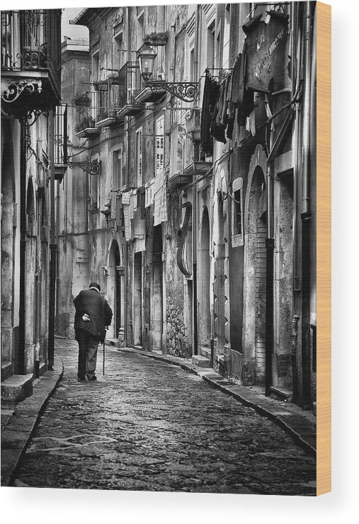 Street Wood Print featuring the photograph I Am... by Gennaro Parricelli
