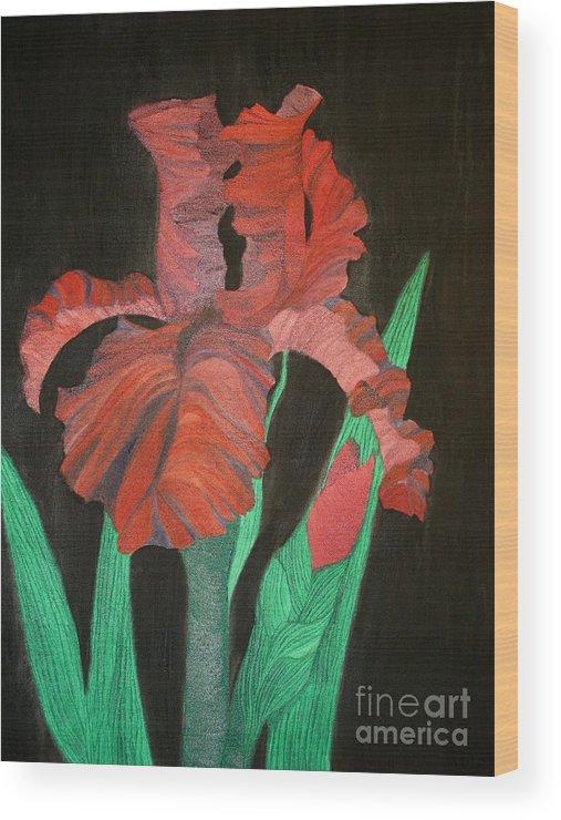 Iris Wood Print featuring the painting Iris by Richard Dotson